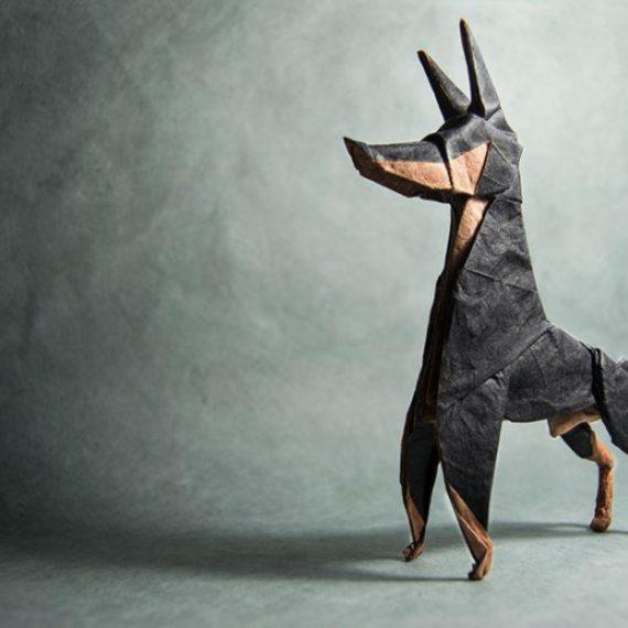 dog origami